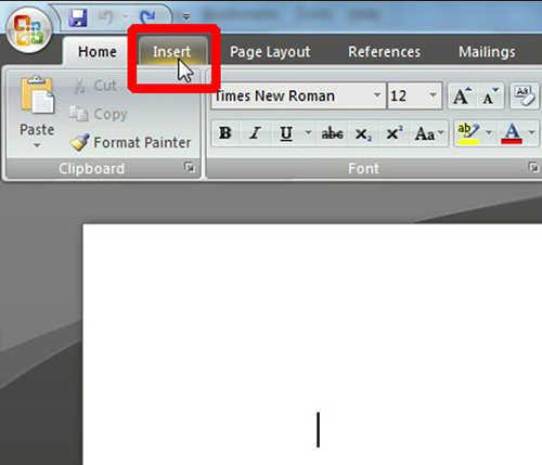 langkah pertama Cara Membuat Tabel Di Microsoft Word