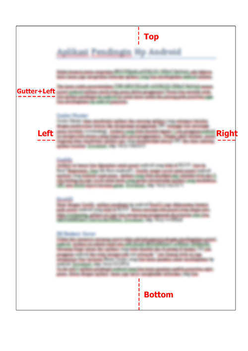 keterangan Cara Mengatur Margin di Word