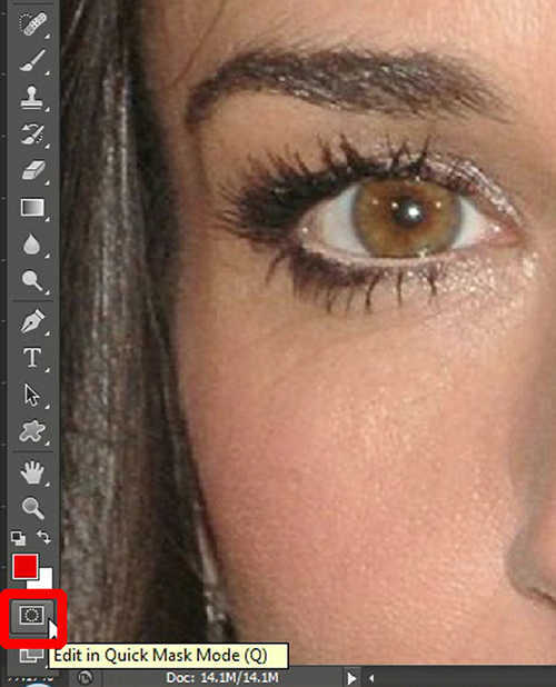 langkah pertama Cara Mengubah Warna Mata Dengan Photoshop