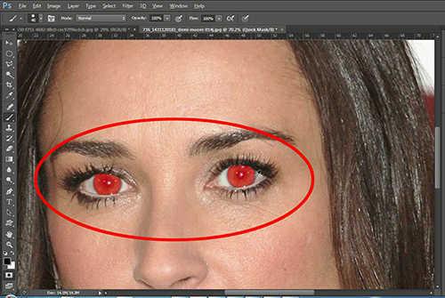 langkah ke tiga Cara Mengubah Warna Mata Dengan Photoshop