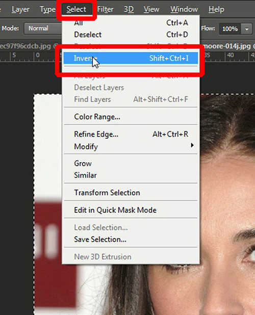 langkah ke lima Cara Mengubah Warna Mata Dengan Photoshop