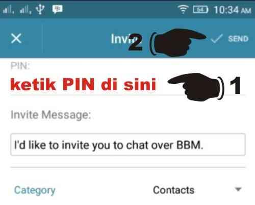 Invite kontak BBM via PIN