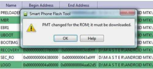 cara mengatasi PMT changed for the ROM, it must be downloaded