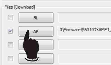 Langkah kedua Cara Flash Samsung Galaxy Young S6310 Via Odin