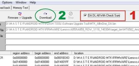 Cara mengatasi error TOOL DL Image Fail, saat flash Lenovo A859