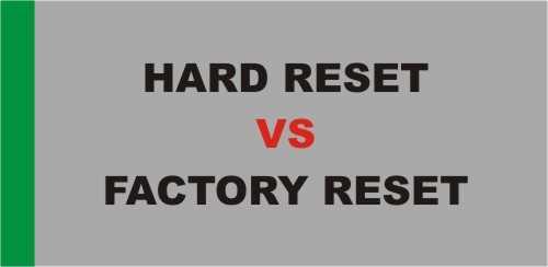 Perbedaan Hard Reset dengan Factory Reset