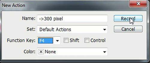 langkah pertama cara menggunakan fitur action di photoshop cs5