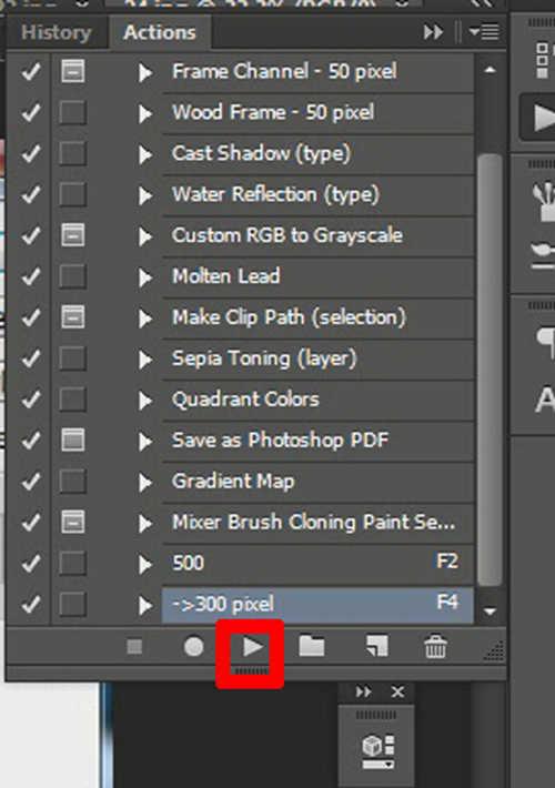 langkah ke tiga cara menggunakan fitur action di photoshop cs5