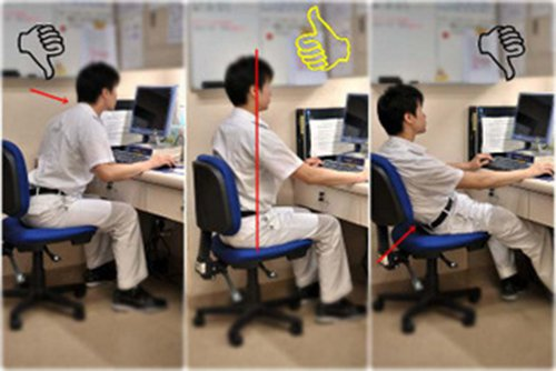 posisi duduk yang baik saat bekerja dengan komputer