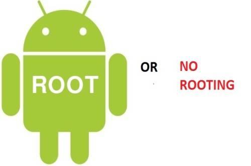 pilih root atau no root?