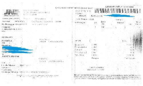 Bukti Pengiriman Servis Samsung Replika via JNE