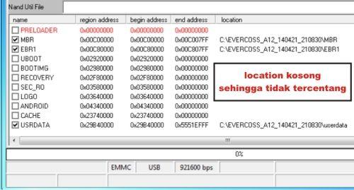 Langkah pertama Mengatasi file location kosong (tidak tercentang) di SP Flash Tool
