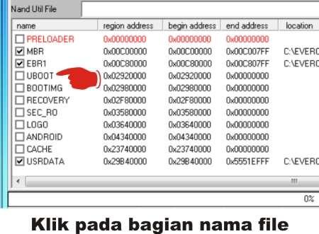 Langkah kedua Mengatasi file location kosong (tidak tercentang) di SP Flash Tool