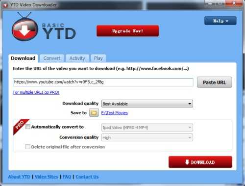converter video YTD