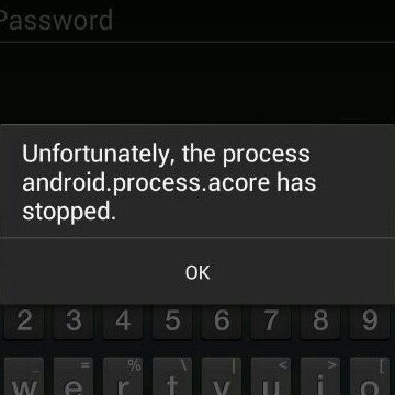 Cara Mengatasi android.process.acore has stopped