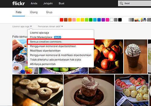 cara mencari foto hratis dan legal di flickr