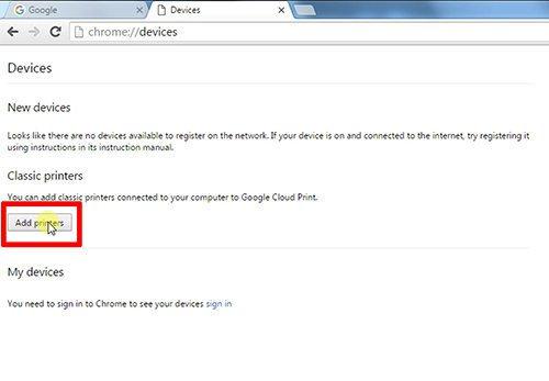 langkah ke lima cara print dari hp android dengan cloud print