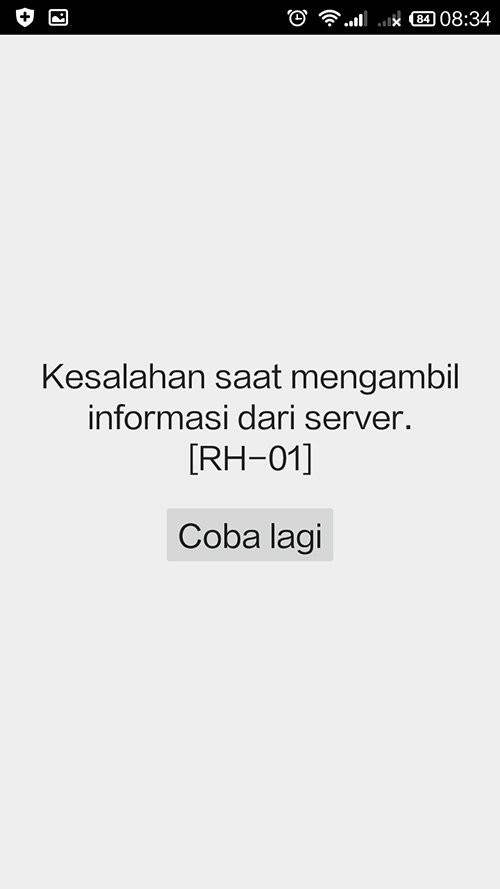 cara mengatasi error retrivieng information from server rh-01 playstore android