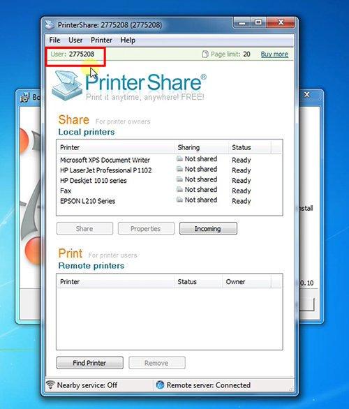 langkah ketiga cara print dari hp android dengan printershare