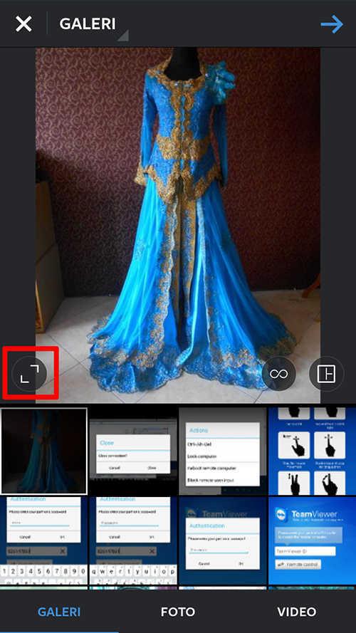 cara kelima cara upload foto di instagram tanpa crop