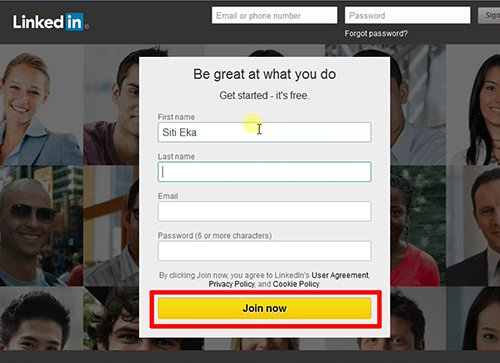 langkah pertama cara membuat linkedin
