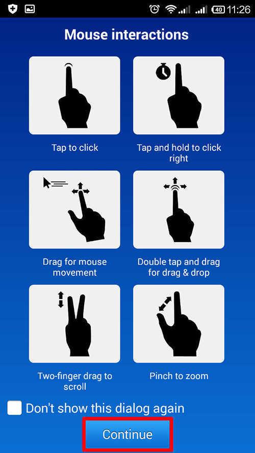 langkah ketiga cara menghubungkan dan mengontrol pc lewat android dengan team viewer
