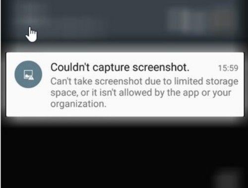 cara atasi error screenshot