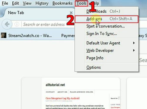 langkah pertama cara menghilangkan iklan di browser