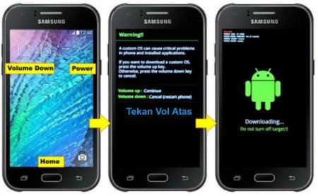 Cara Flash Samsung Galaxy J1 SM-J100H via Odin