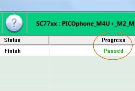 Proses Flash Axioo PICOphone M4U+ sukses