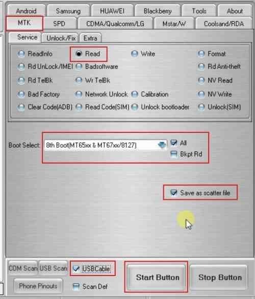 Cara Backup File Scatter dengan Miracle Box 2.38
