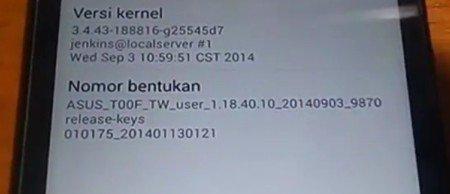 Cara Upgrade Asus Zenfone 5