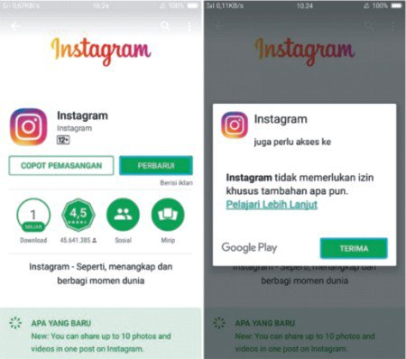 install ulang aplikasi instagram